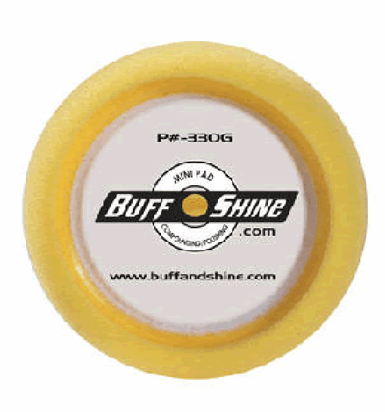 "Buff N Shine 330G 3""X1""YELLOW FOAM POLISH PAD 2/ea"