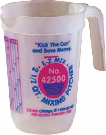 EZ Mix 44000 4 quart Mixing Pitchers 1 box of 6/ea