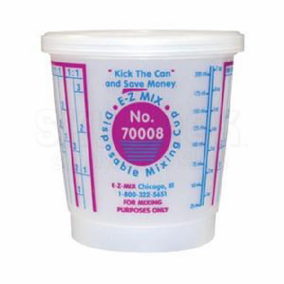 EZ Mix 70003 Plastic Cups ¼ pint size 1 box of 200/ea