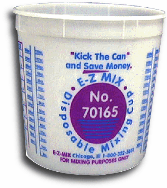 EZ Mix 70086 Paint Mixing Cups 2½ quart 1 box of 25/ea