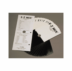 EZ Mix 79000 Color Match Cards 1 package of 250/ea
