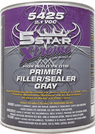 Five Star 5425 XTREME High Build 2K Direct to Metal Primer Filler/Sealer – Gray 1/ea gal