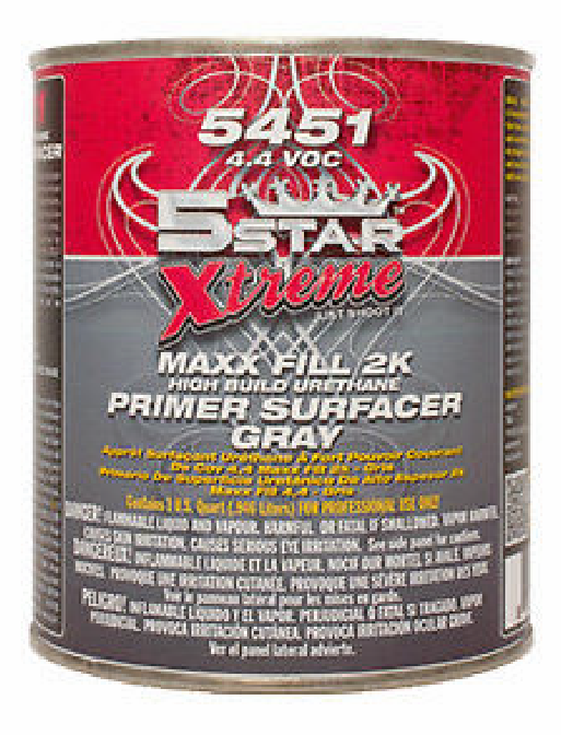 Five  Star 5451 Maxx Fill 2k High build primer quart