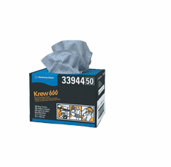 Kimberly Clark 33944 KREW 600 Heavy Duty Shop Towels 1 Box of 180/ea towels