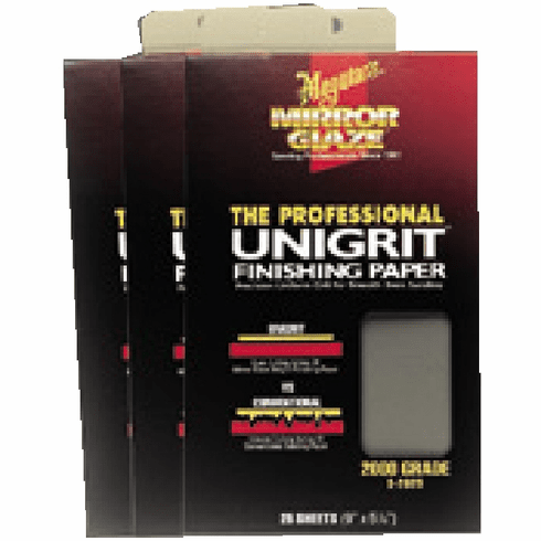 Meguiars S2025 Unigrit Finishing Papers 2000 Grit 1 sleeve of 25/ea