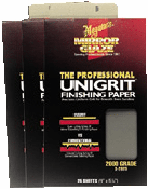Meguiars S3025 Unigrit Finishing Papers 3000 Grit 1 sleeve of 25/ea