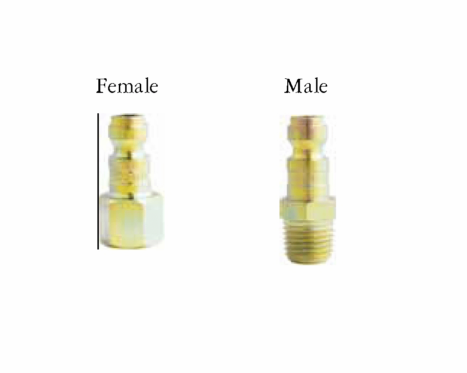 Milton 783, 784 T style Plugs for air line quick disconnect 1/ea
