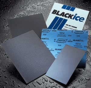 "Norton Black Ice Waterproof  Wet or Dry Black Ice Sand Paper 5-1/2 X 9"" 600-2000 grit"