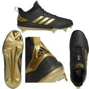 Adidas Adizero Afterburner V Black & Gold Men's Metal Baseball Cleats