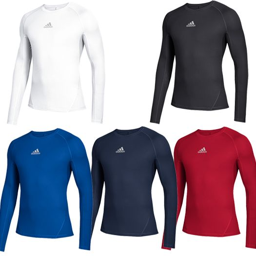 37eea942d Adidas Alphaskin Youth Long Sleeve Baseball Compression Shirt
