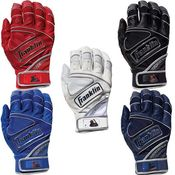 Franklin Powerstrap Chrome Adult Baseball Batting Gloves