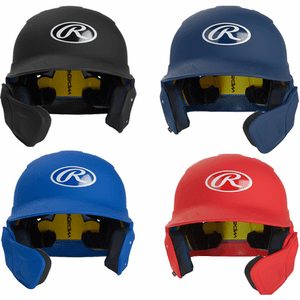 Rawlings Mach EXT Helmet, C Flap Helmet w/ Cheek Protector Extension MACHEXTR