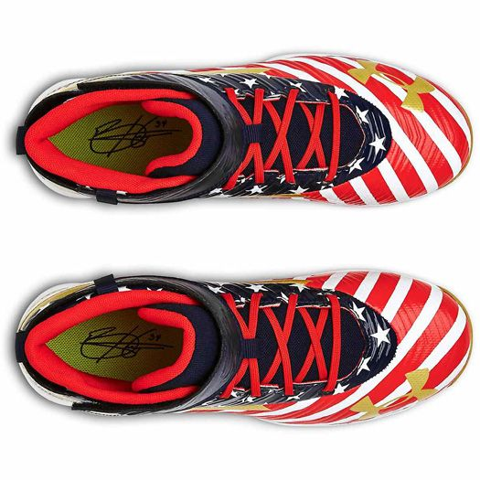 2bbe448c6272 Under Armour Limited Edition Bryce Harper Youth Baseball Cleats USA MID  3021488-600