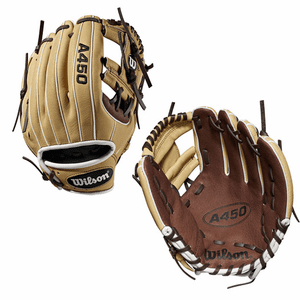 "Wilson A450 10.75"" Youth Baseball Glove WTA04RB191075"