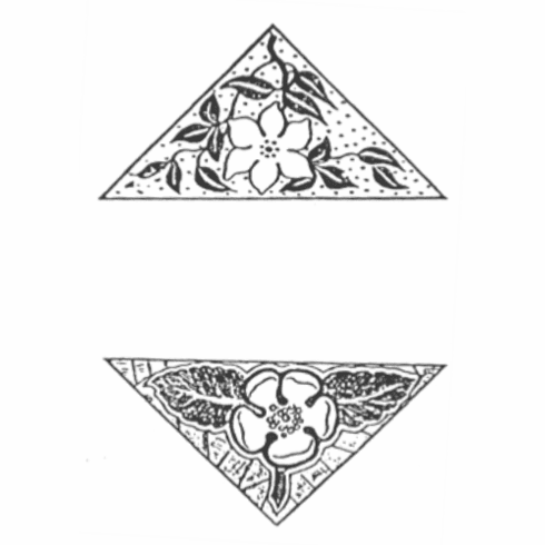 Flower Triangle Set
