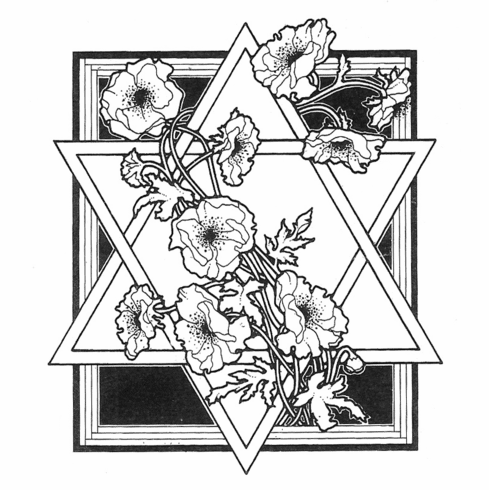 Poppies and Star of David