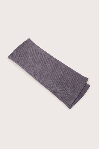 Barefoot Dreams Cozychic Ash/Pewter Lite Ribbed Scarf