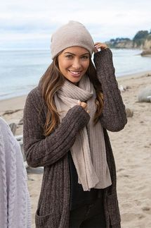 Barefoot Dreams CozyChic Taupe Lite Beanie