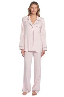 Barefoot Dreams Pink Luxe Milk Jersey Piped Pajama Set