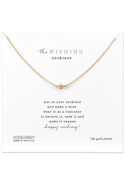 Dogeared The Wishing Necklace Gold