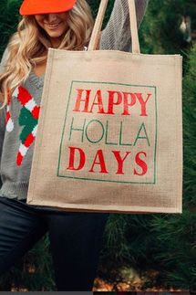 Mother Trucker Happy Holladays Tote Bag