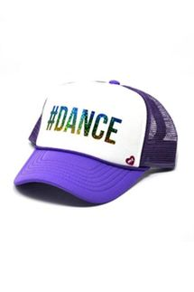 Mother Trucker KIDS #DANCE Purple Hat