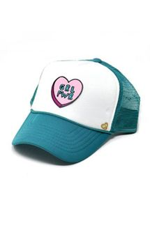 Mother Trucker KIDS Girl Power Teal Hat