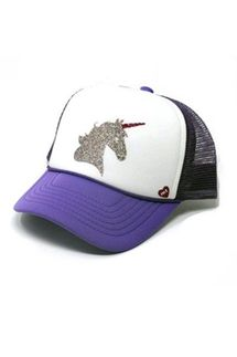 Mother Trucker KIDS Majestic Unicorn Purple Hat
