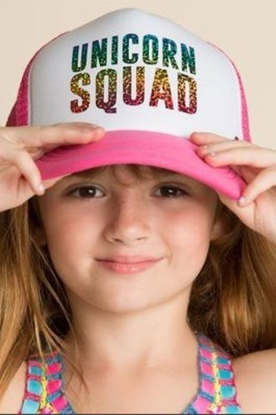 Mother Trucker KIDS Unicorn Squad Pink Hat