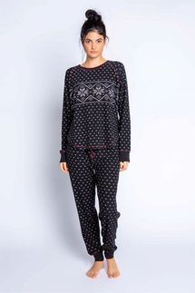 PJ Salvage Alpine Nights Long Sleeve and Banded Pant Pajama Set