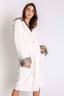 PJ Salvage Aspen Hooded Plush Robe