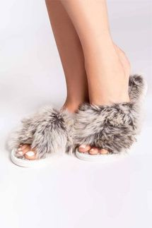 PJ Salvage Aspen Faux Fur Slippers