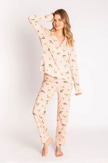 PJ Salvage Avo Good Night Pajama Set w/ Eye Mask