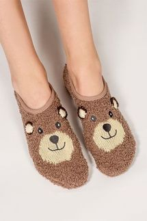 PJ Salvage Bear Slipper Socks