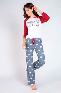 PJ Salvage Bear With Me Long Sleeve and Pant Pajama Set