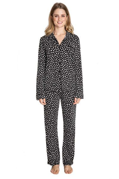PJ Salvage Black Heart Pajama Set