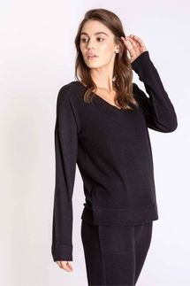 PJ Salvage Black Long Sleeve and Banded Pant Set