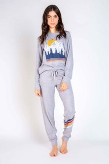PJ Salvage Campfires and Coctails Long Sleeve and Pant Set