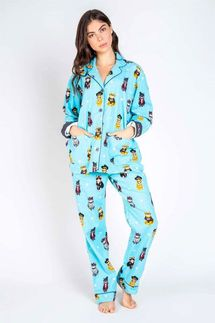 PJ Salvage Cat Lover Flannel Pajama Set