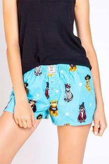 PJ Salvage Cat Lover Flannel Short