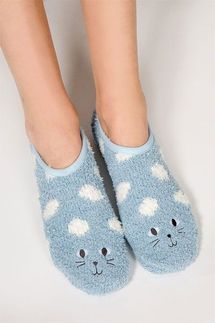 PJ Salvage Cat Slipper Socks