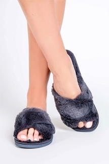 PJ Salvage Charcoal Slipper Slides