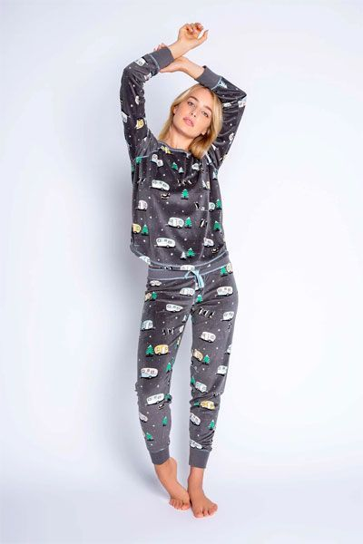 PJ Salvage Chillout Long Sleeve and Banded Pant Pajama Set