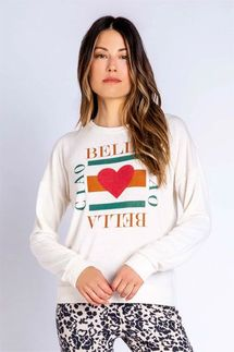 PJ Salvage Ciao Bella Long Sleeve Top