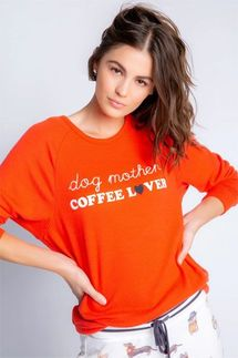 PJ Salvage Coffee + Canines Long Sleeve Top