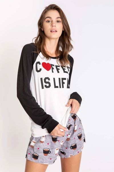 PJ Salvage Coffee Is Life Long Sleeve Top