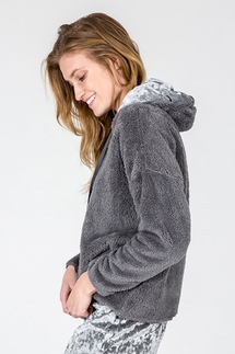 PJ Salvage Cozy Grey Hoody