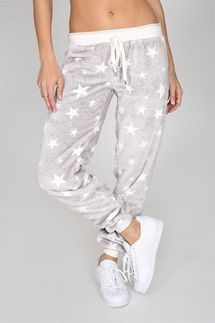 PJ Salvage Cozy Star Banded Pant