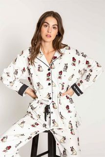 PJ Salvage Dog Flannel Pajama Set