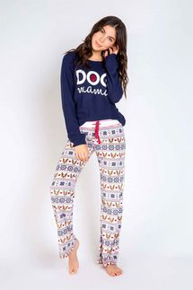 PJ Salvage Dog Mama Long Sleeve and Pant Pajama Set
